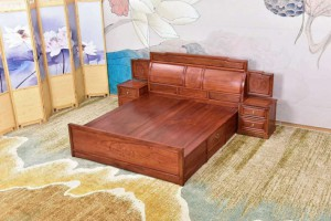 缅甸花梨大床生产厂家批发价格