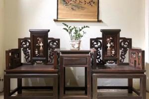 大红酸枝太师椅三件套多少钱