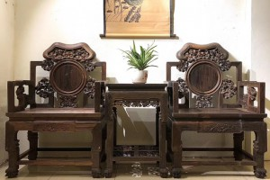 大红酸枝灵芝椅三件套多少钱