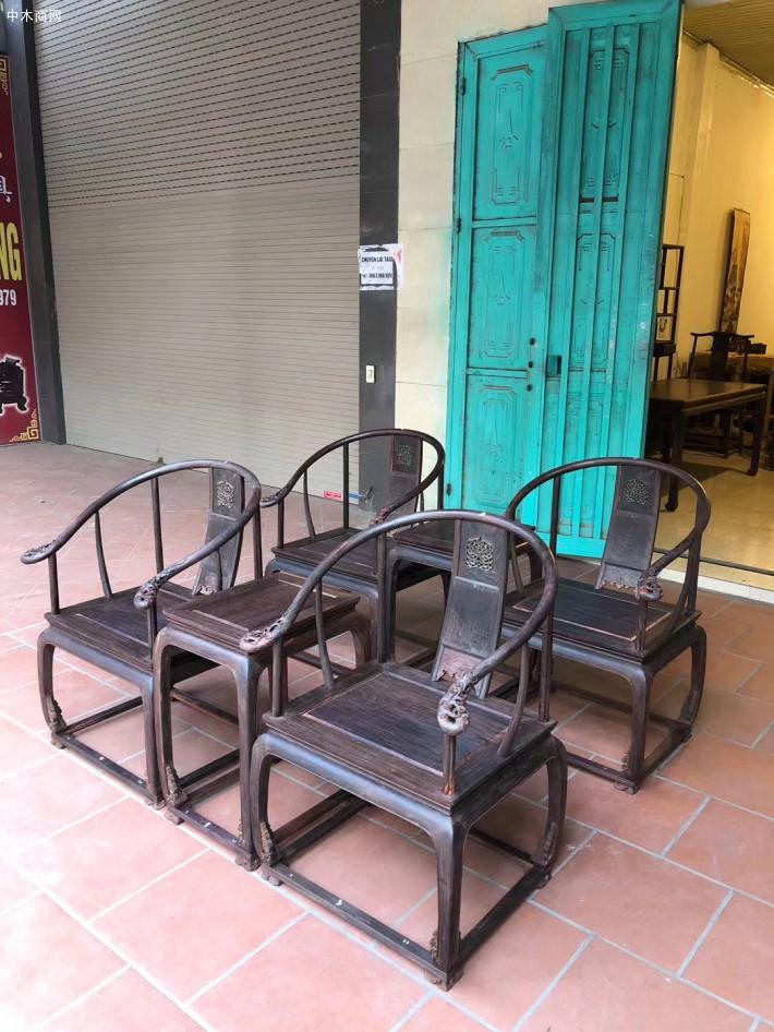 大红酸枝皇宫椅三件套多少钱