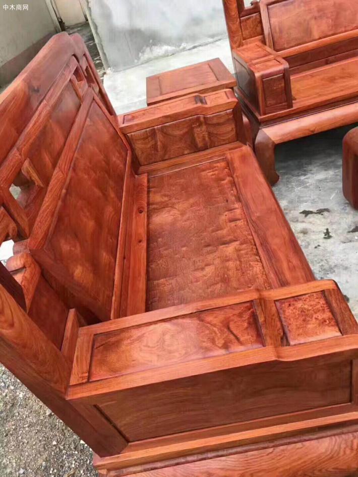 缅甸花梨木国色天香沙发六件套厂家直销采购