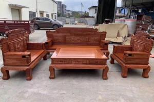 缅甸花梨财源滚滚沙发六件套生产厂家
