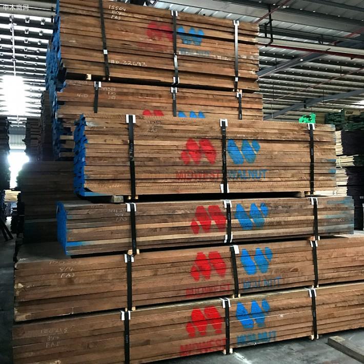 进口北美黑胡桃木顶级6.5厚黑胡桃板材美国黑胡桃木料厂价直销供应