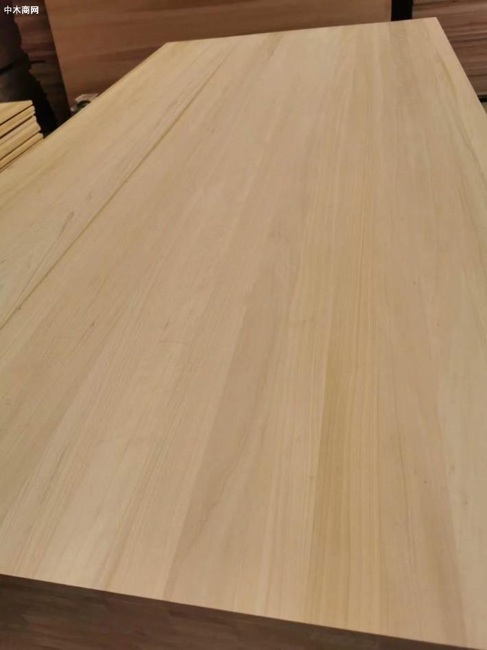 炭化白杨木直拼板材图片价格