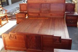 缅甸花梨大床三件套报价福建省堂旺世家古典家具厂最新报价