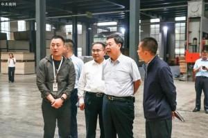5月30日山东省生态环境厅领导调研木业企业VOC治理工作