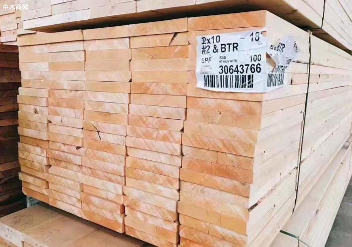 北美SPF市场木材价格行情_2020年6月16日