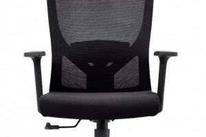 现代网转椅带头枕黑色电脑椅子Y20