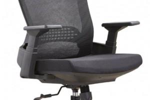 现代网转椅黑色带头枕A32