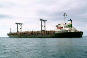 福建湄洲湾港疫情后首次迎来首迎两艘原木船同靠作业