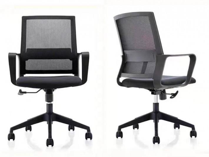 不带头枕的职员椅804B黑色办公椅子价格
