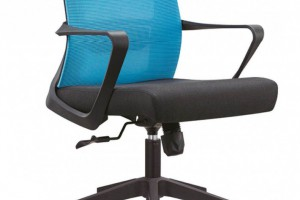 不带头枕的职员椅B15蓝色办公椅厂家