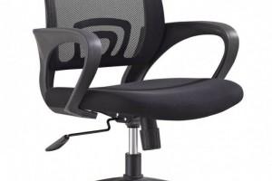 无头枕的职员椅7068B黑色办公椅批发