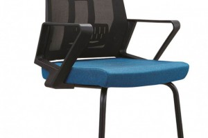 黑配蓝无头枕的职员椅电脑椅C12厂家批发