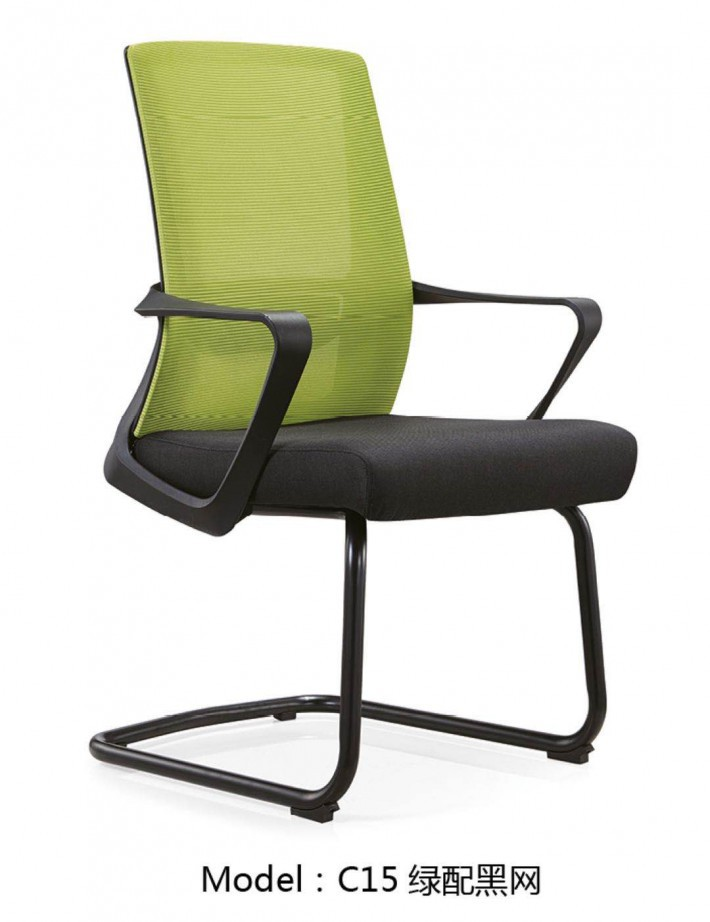 无头枕的网布职员椅子C15电脑椅生产厂家