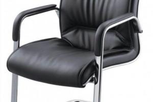 黑色职员椅皮质座椅D068