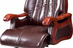皮质木扶手转动座椅9022