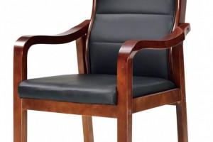 皮质坐垫木扶手座椅601