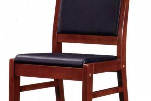 皮质木靠背椅003
