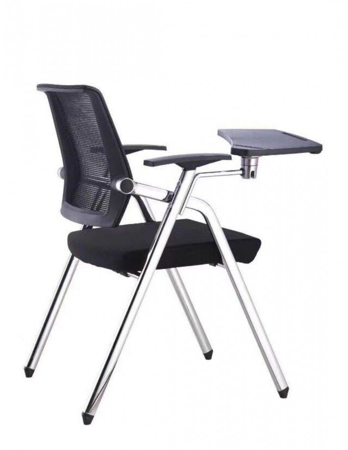 带写字板折叠网布椅子图片