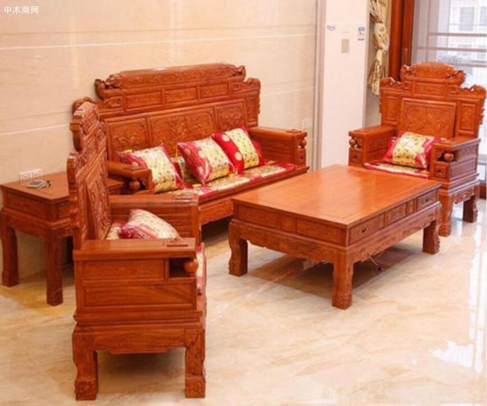 缅甸花梨木沙发六件套价格多少钱一套