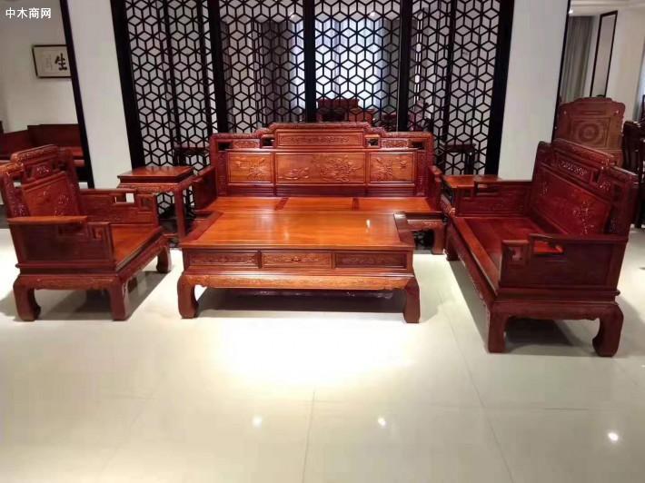 缅甸花梨木沙发六件套价格多少钱一套图片