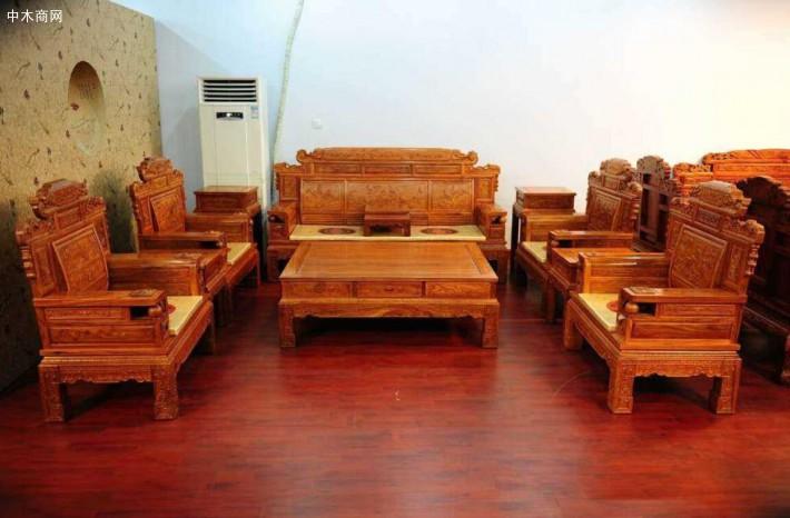 缅甸花梨木沙发六件套价格多少钱一套价格