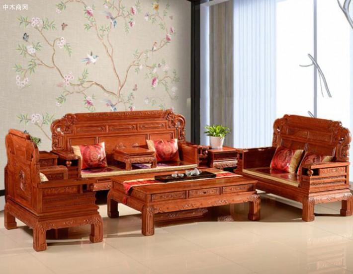 缅甸花梨木沙发六件套价格多少钱一套厂家