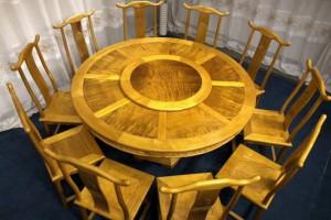 金丝楠木圆餐桌椅子厂家直销