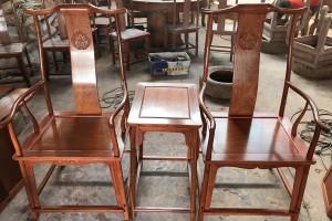 缅甸花梨木官帽椅高清视频