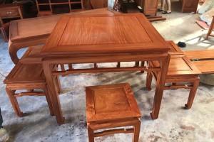 缅甸花梨木八仙桌高清视频