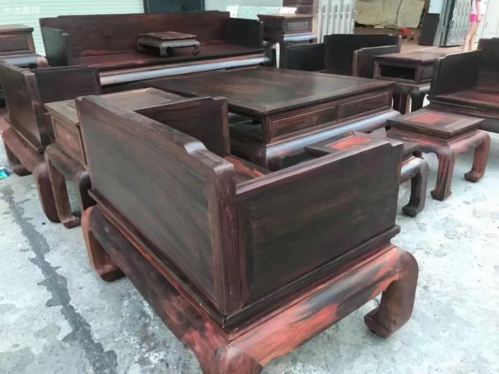 大红酸枝家具沙发价格图片采购