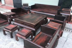 越南大红酸枝十件套沙发价格?