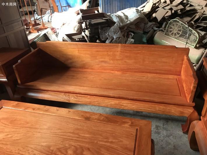 缅甸花梨木六件套独板沙发价格多少钱一套厂家