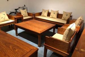缅甸花梨木沙发六件套价格图片