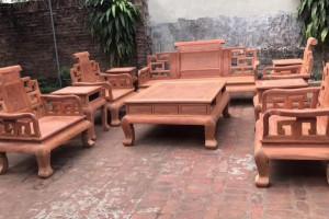 大富贵缅甸花梨木沙发10件套多少钱?