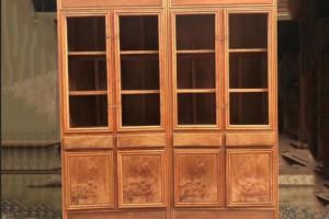 凭祥缅甸花梨木书柜价格多少钱一对?