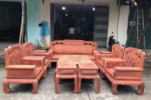 精品凭祥缅甸花梨红木沙发10件套厂家直销