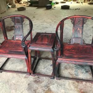 明清大红酸枝圈椅三件套十大品牌