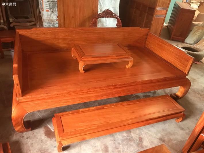 缅甸花梨木罗汉床图片价格