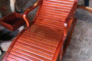 缅甸花梨木摇椅躺椅厂家直销