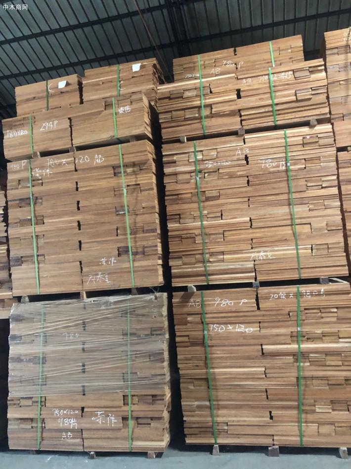 瓦泰豆实木地板坯料厂家批发品牌