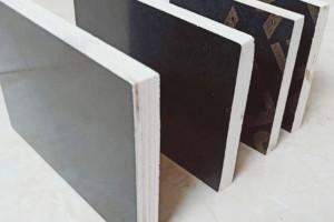 松杨结全整芯黑色覆建筑膜板防水耐用适用于高层别墅桥梁包装
