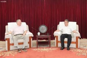 钦州市市长谭丕创会见广西丰林集团董事长刘一川