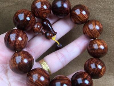 高油性越南黄花梨手串价格1500
