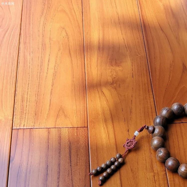 A级柚木地板进口实木地板(原材工厂直供)防潮耐腐耐磨油性地板
