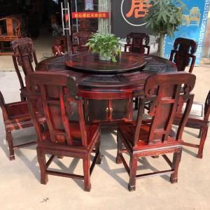 广西凭祥老挝大红酸枝象头餐桌椅十大品牌