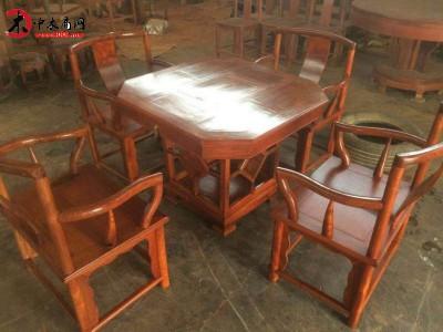 凭祥市匠心居红木家具店 缅花茶台,红木中式仿古家具泡茶桌 缅甸花梨木茶桌