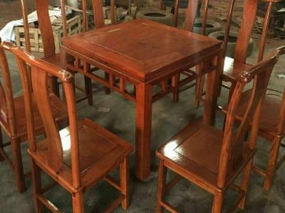 凭祥市匠心居红木家具店 缅甸花梨木八仙桌 实木明式古典餐桌饭桌棋牌方桌椅