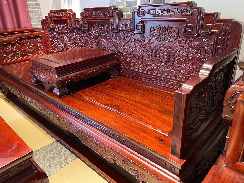 顶级花枝宝座沙发113七件套高清图片价格